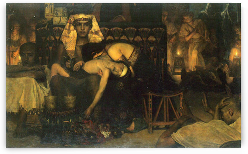 The death of the First Born by Alma-Tadema by Alma-Tadema