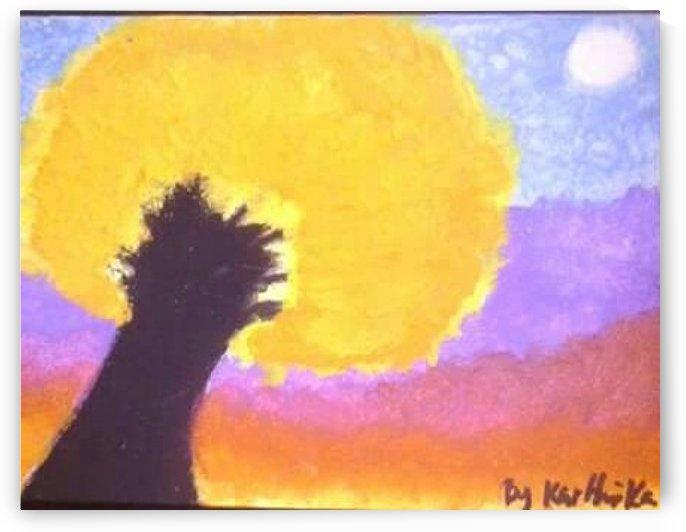 Tree in Fall at Sunset  by Kayathiri Vaithilingam