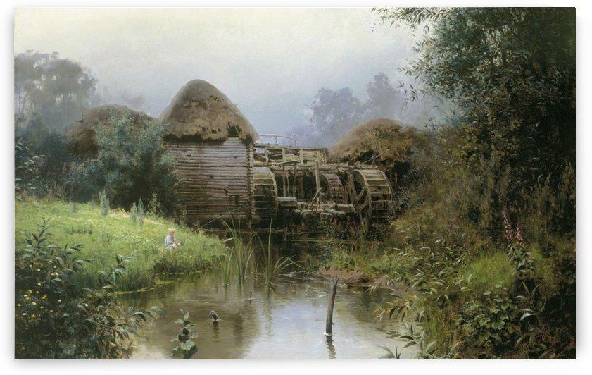 View of a mill by Vasily Dmitrievich Polenov