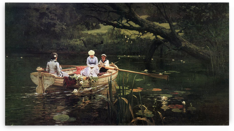 People on the boat by Vasily Dmitrievich Polenov