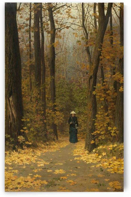 A walk through the forrest by Vasily Dmitrievich Polenov