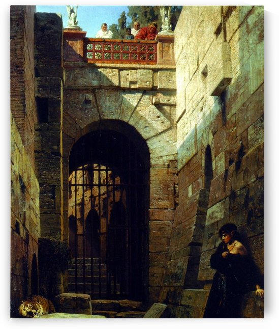 A woman at the ruins by Vasily Dmitrievich Polenov