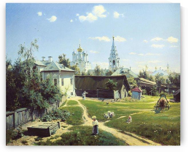 A rural landscape by Vasily Dmitrievich Polenov