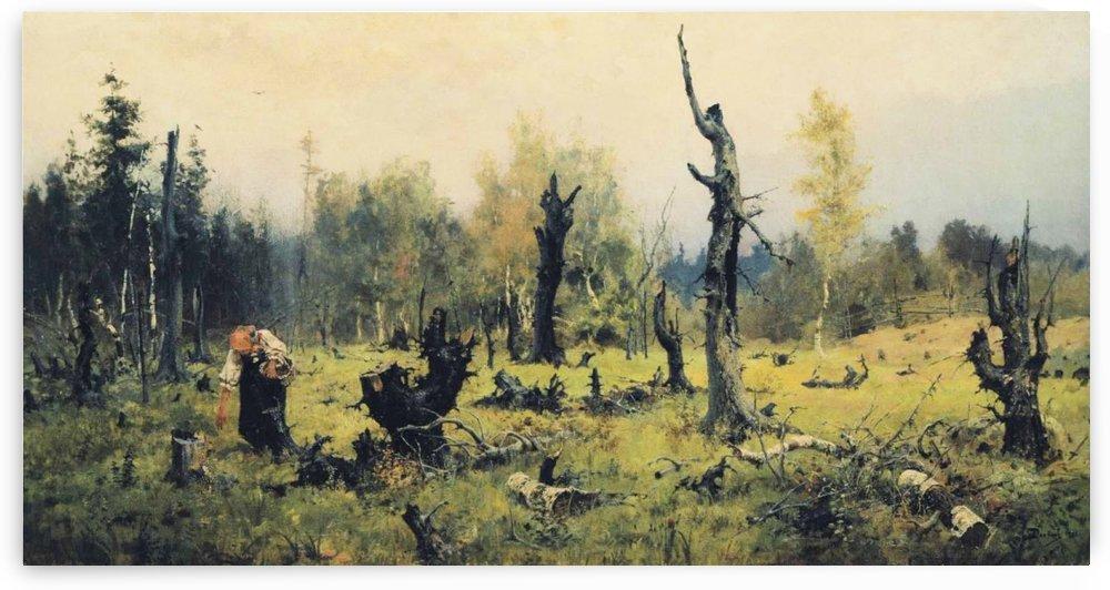 A chopped forest by Vasily Dmitrievich Polenov
