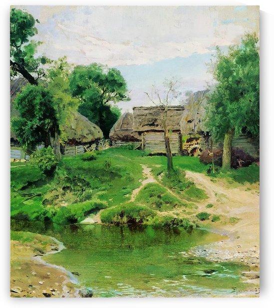 Turgenevo village by Vasily Dmitrievich Polenov