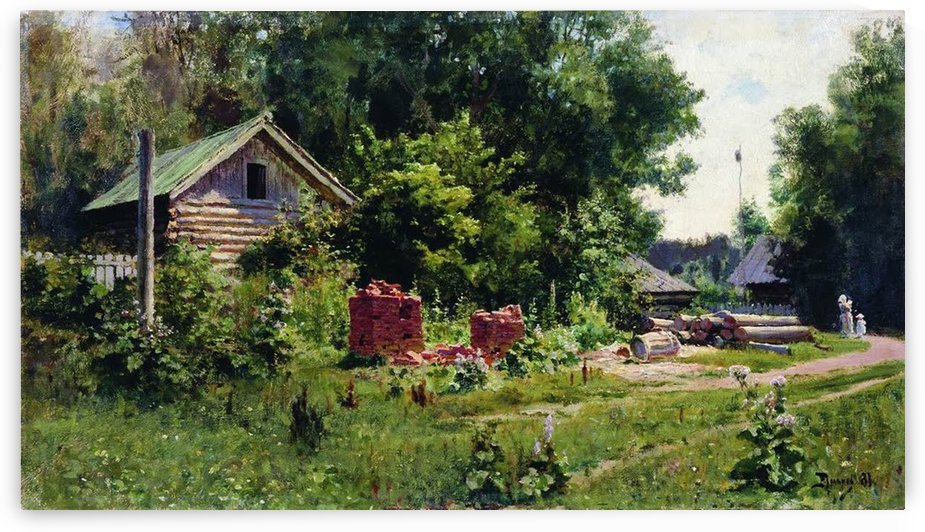 A Russian yard by Vasily Dmitrievich Polenov