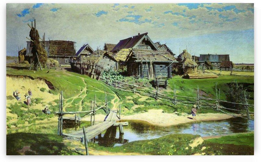 Russian village by Vasily Dmitrievich Polenov
