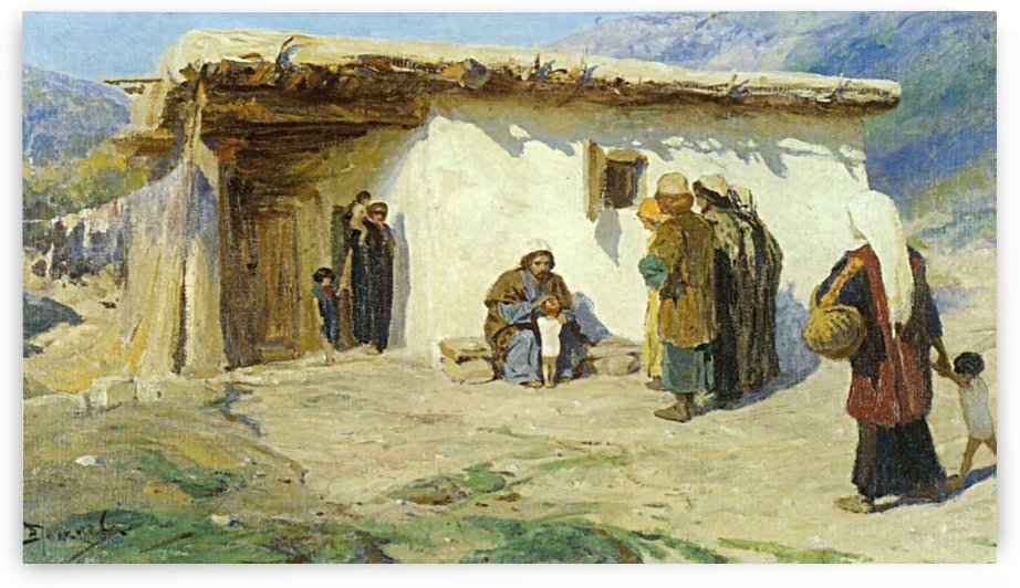 A peasent's home by Vasily Dmitrievich Polenov