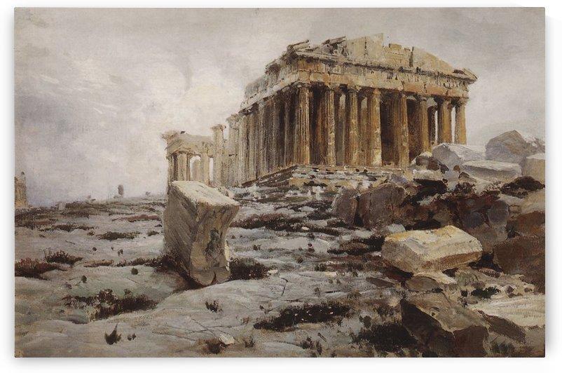 The Parthenon, Temple of Athena Pallas by Vasily Dmitrievich Polenov