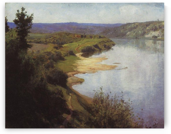 A view with a large river by Vasily Dmitrievich Polenov