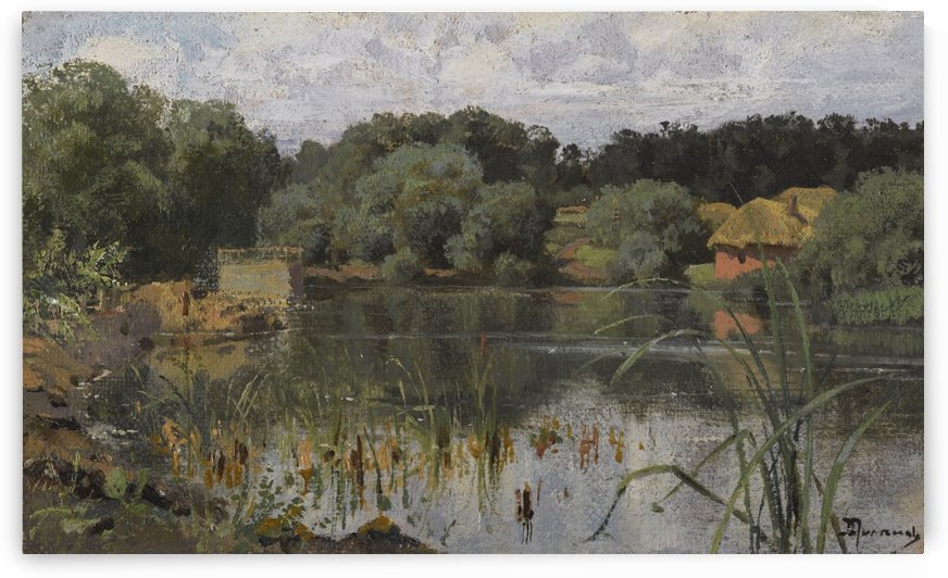People on the lake by Vasily Dmitrievich Polenov