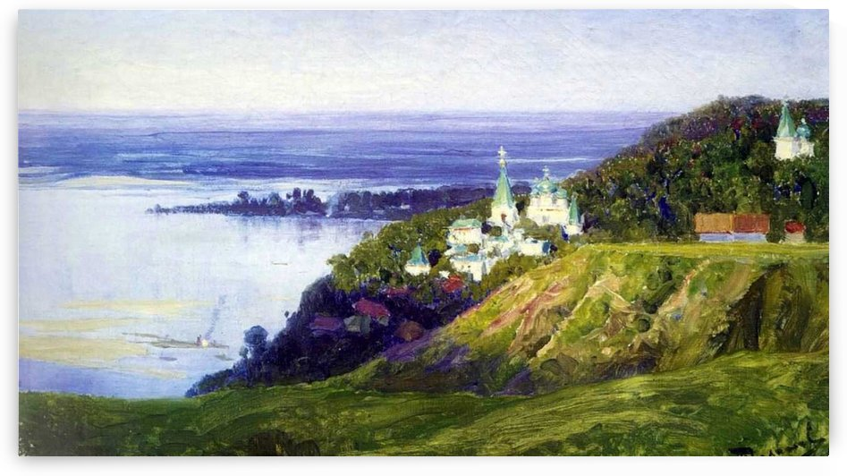 Moscow yard and sea by Vasily Dmitrievich Polenov