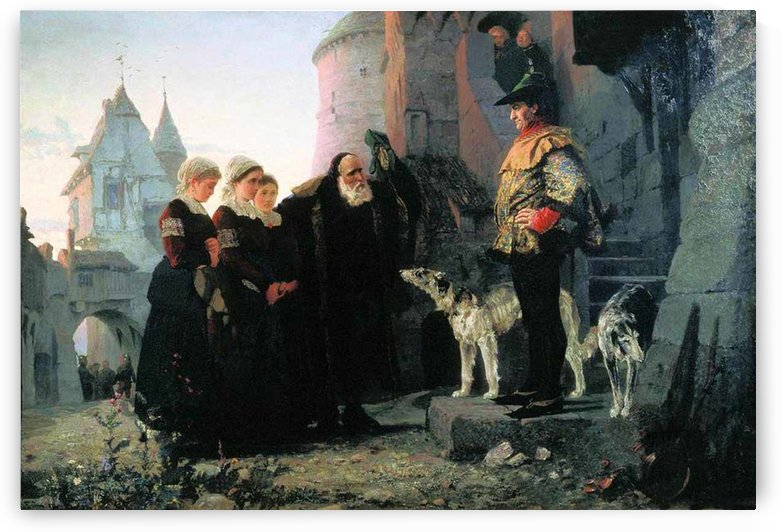 Led the children by Vasily Dmitrievich Polenov