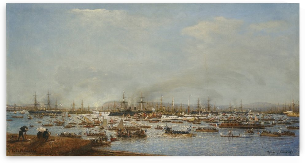 Lots of boats on the sea by Vasily Dmitrievich Polenov
