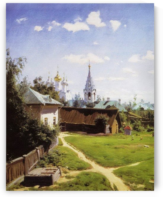 A courtyard in Moscow by Vasily Dmitrievich Polenov