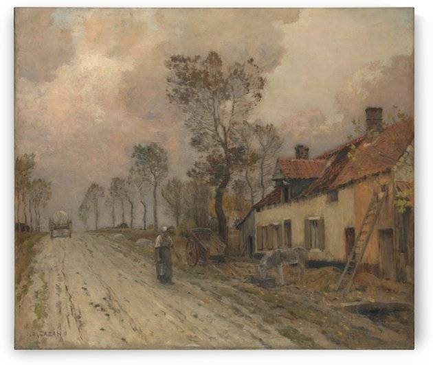 La Route Nationale a Samer by Jean-Charles Cazin