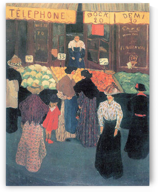 At the market by Felix Vallotton by Felix Vallotton