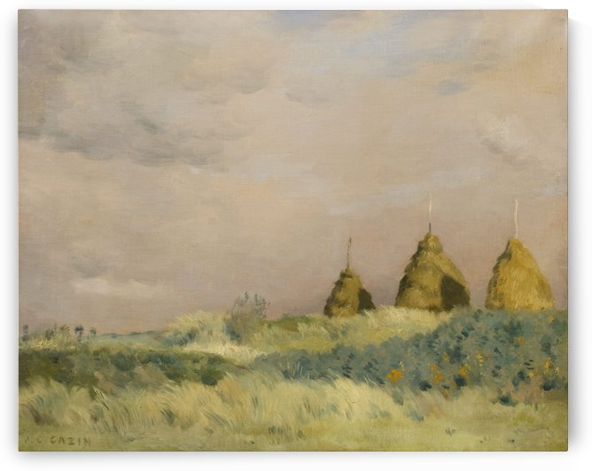 The three stacks by Jean-Charles Cazin