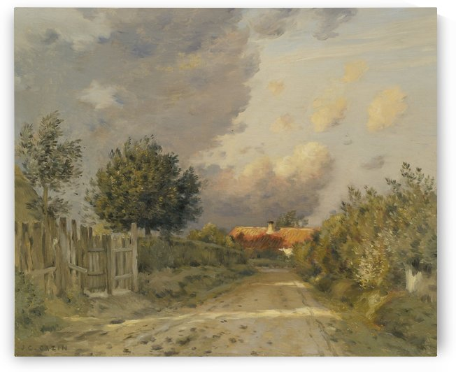 A road that leeds to a house by Jean-Charles Cazin