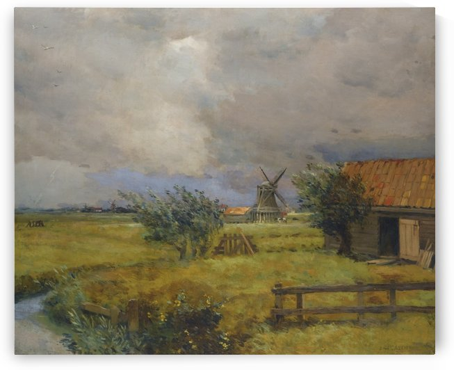 An old windmill by Jean-Charles Cazin