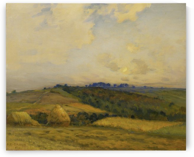 A hill in spring by Jean-Charles Cazin