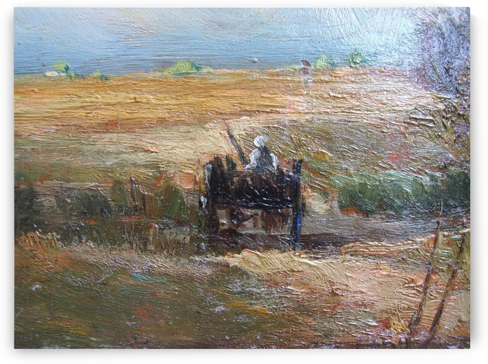 Working in the fields by Jean-Charles Cazin