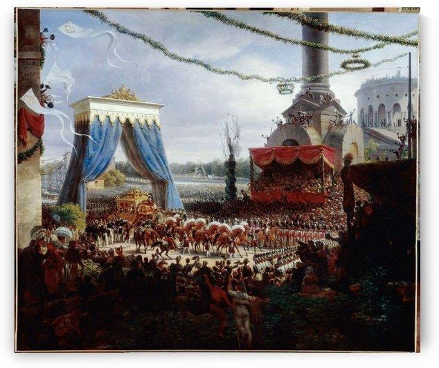 Charles X entering Paris by Louis Francois Lejeune