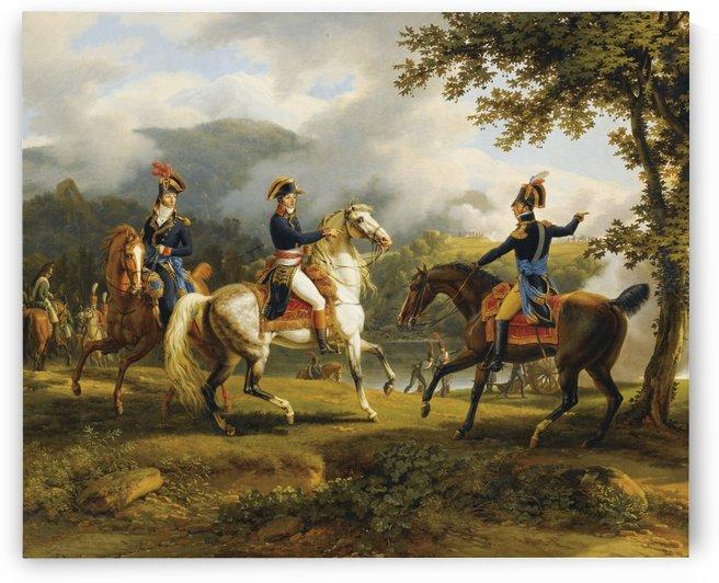 A gathering of horesmen by Louis Francois Lejeune