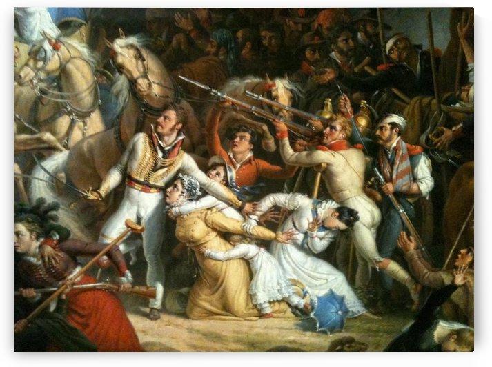 War scene by Louis Francois Lejeune