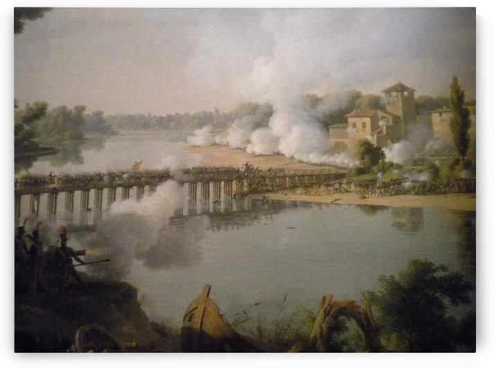 The bridge to the castle by Louis Francois Lejeune