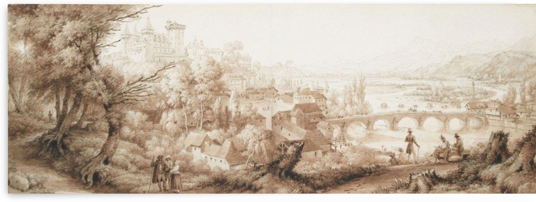Chateau de Pau by Louis Francois Lejeune