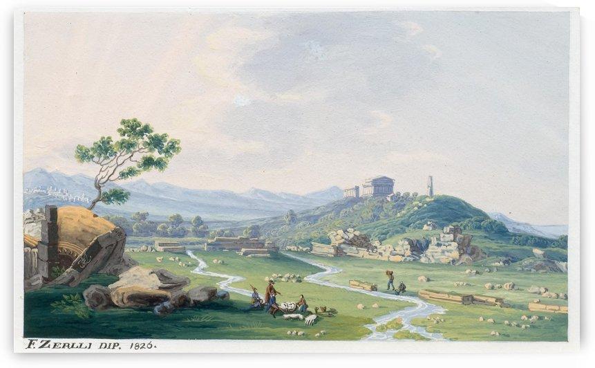 Agrigento 1826 by Francesco Zerillo