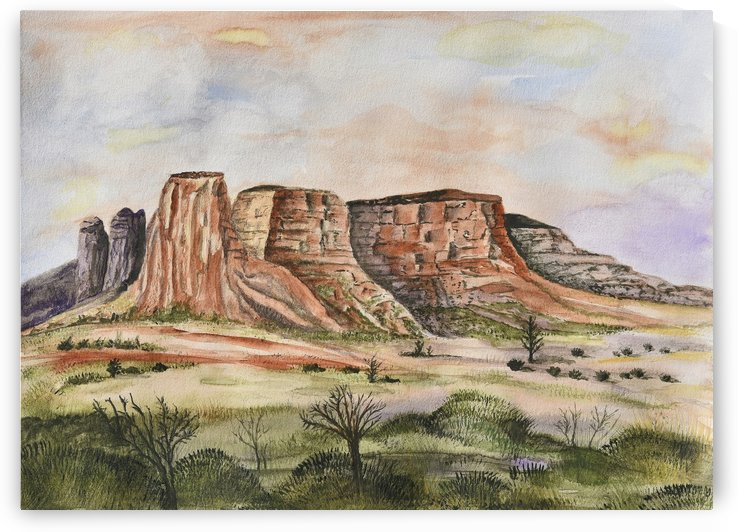 Buttes of Sedona  by Linda Brody