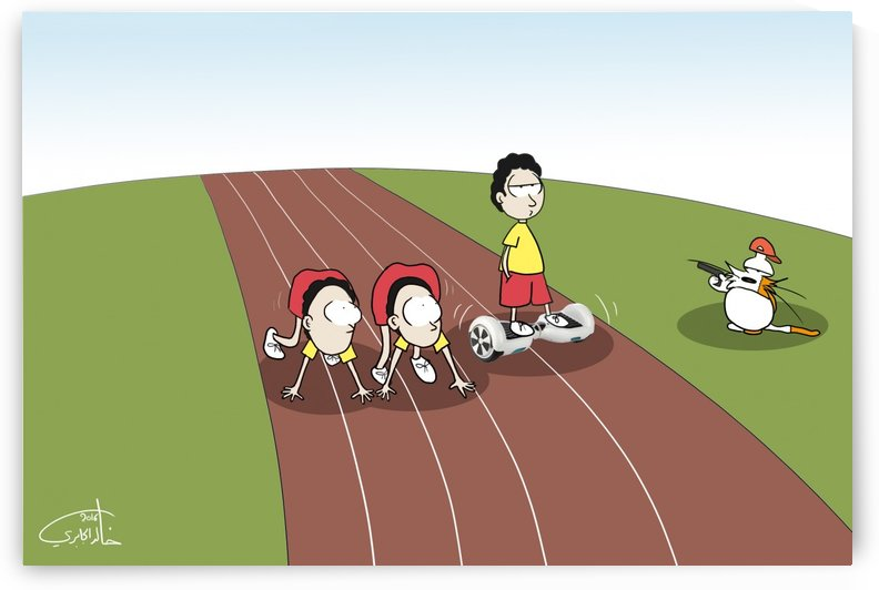 Athletic in The Future by Khaled Al Jaberi