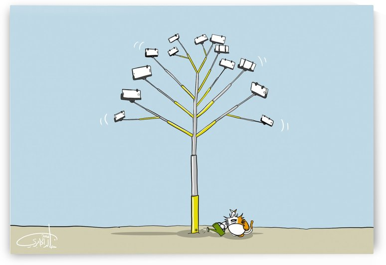 Selfie Tree by Khaled Al Jaberi