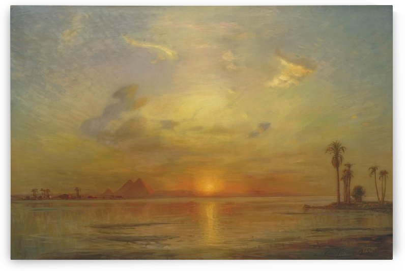 Landscape near The Great Pyramids by Ernst Karl Eugen Koerner