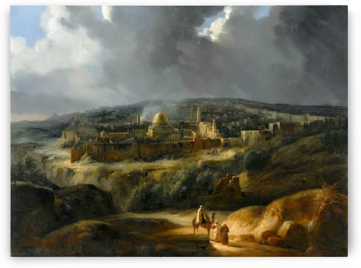 View of Jerusalem from the Valley of Jehoshaphat by Auguste Forbach