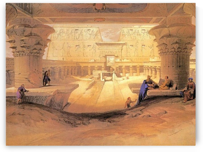 Ancient gate with figures by David Roberts