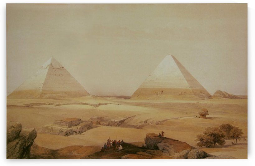 Pyramids of Geezeh by David Roberts