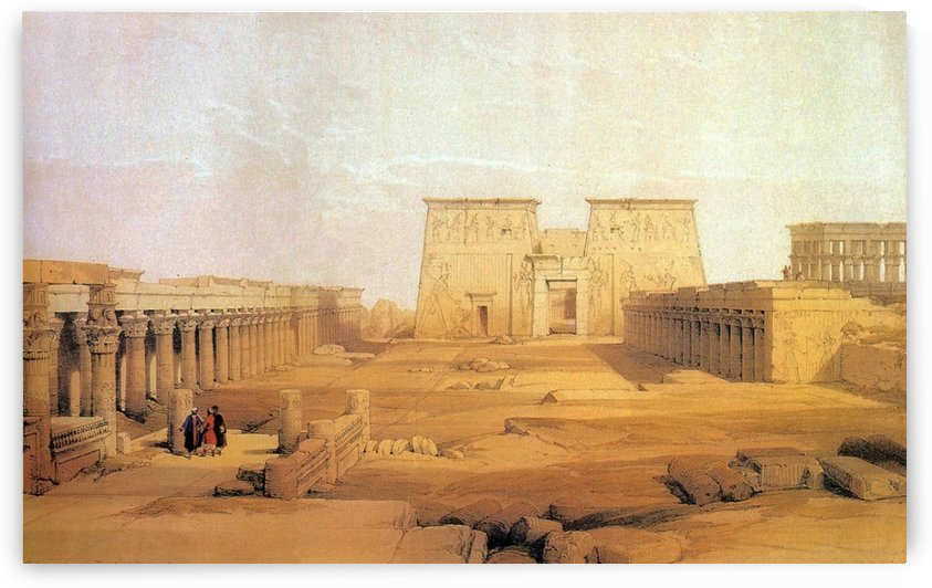 View of Philae, 1838 by David Roberts