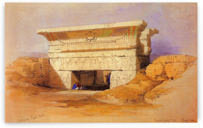 Entering temple by David Roberts