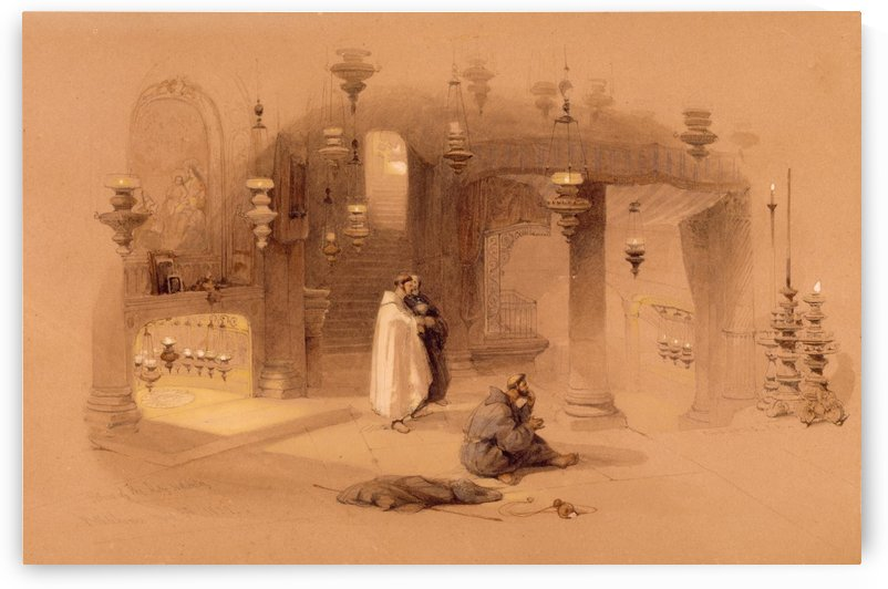 The Shrine Of The Holy Nativity by David Roberts