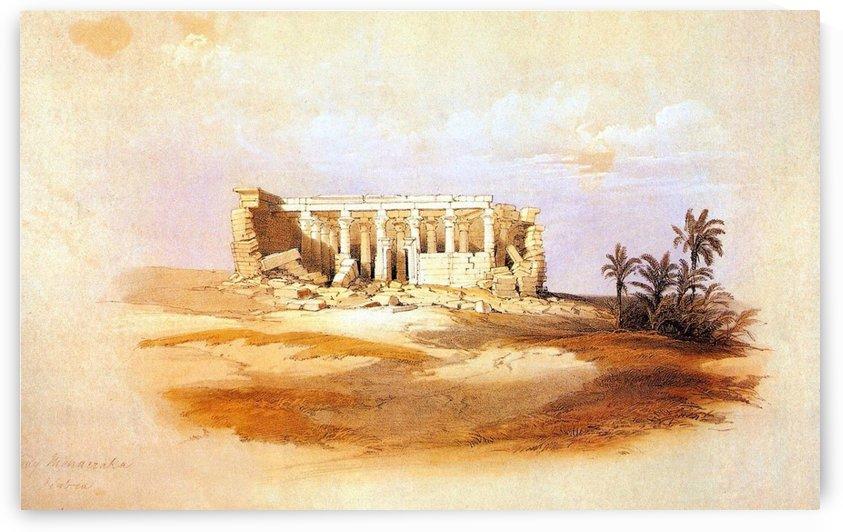 Temple of Isis Serapis at Maharraka, 1838 by David Roberts