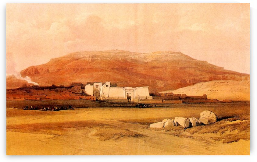 Medinet Abu 1838 by David Roberts