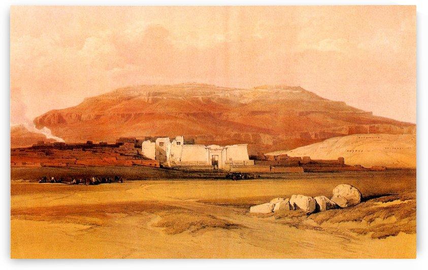 Medinet Abu 1838 by David Roberts