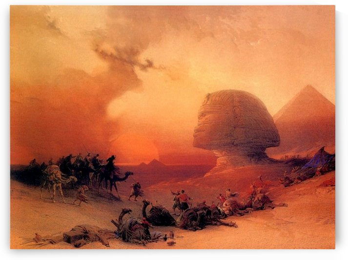 The Sphinx at Giza by David Roberts