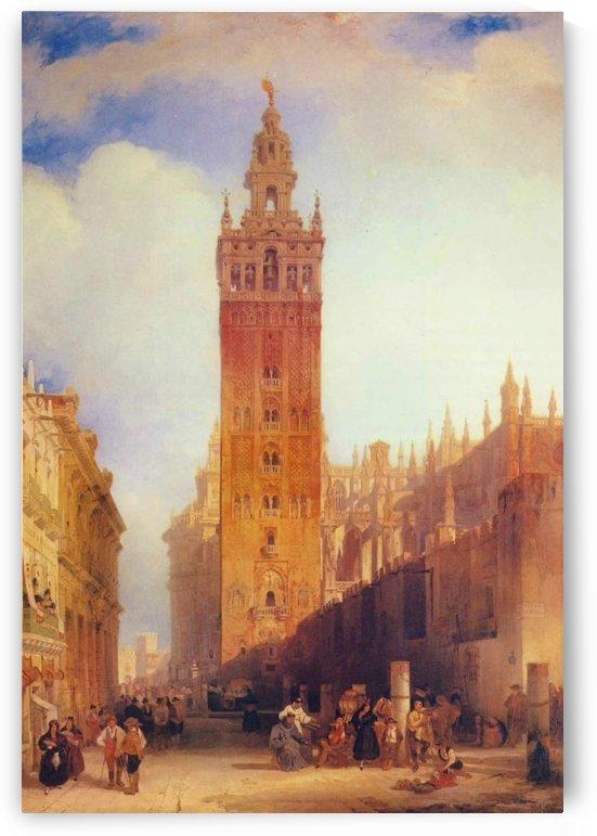 The Moorish Tower at Seville, called the Giralda by David Roberts