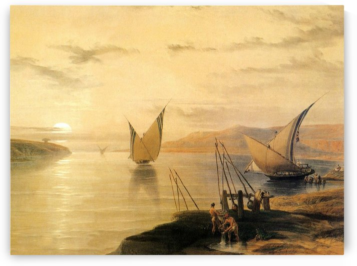 Gebel El Silsilis 1838 by David Roberts