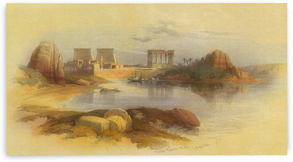 Landscape with view of the Temple of Philae by David Roberts