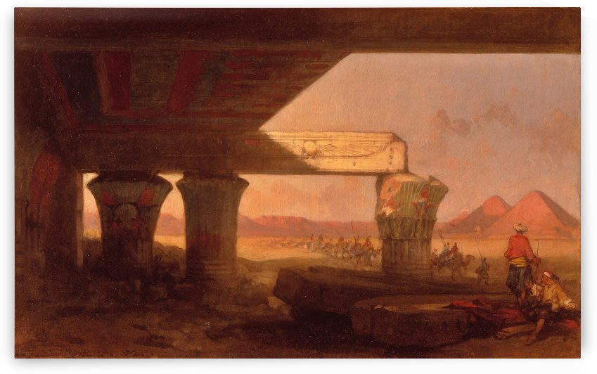 Egyptian landscape with a distant View of the Pyramids, 1862 by David Roberts